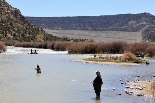 Anglers fish on the San Juan River Thursday at Texas Hole.