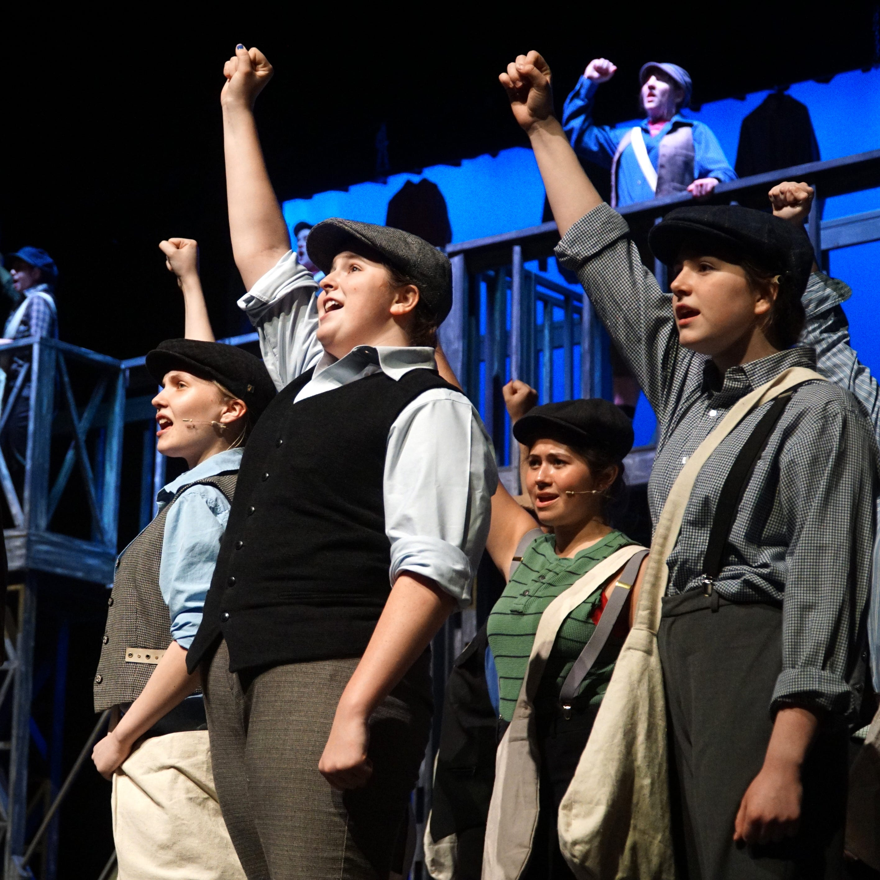 South Lyon East presents 'Newsies' on stage