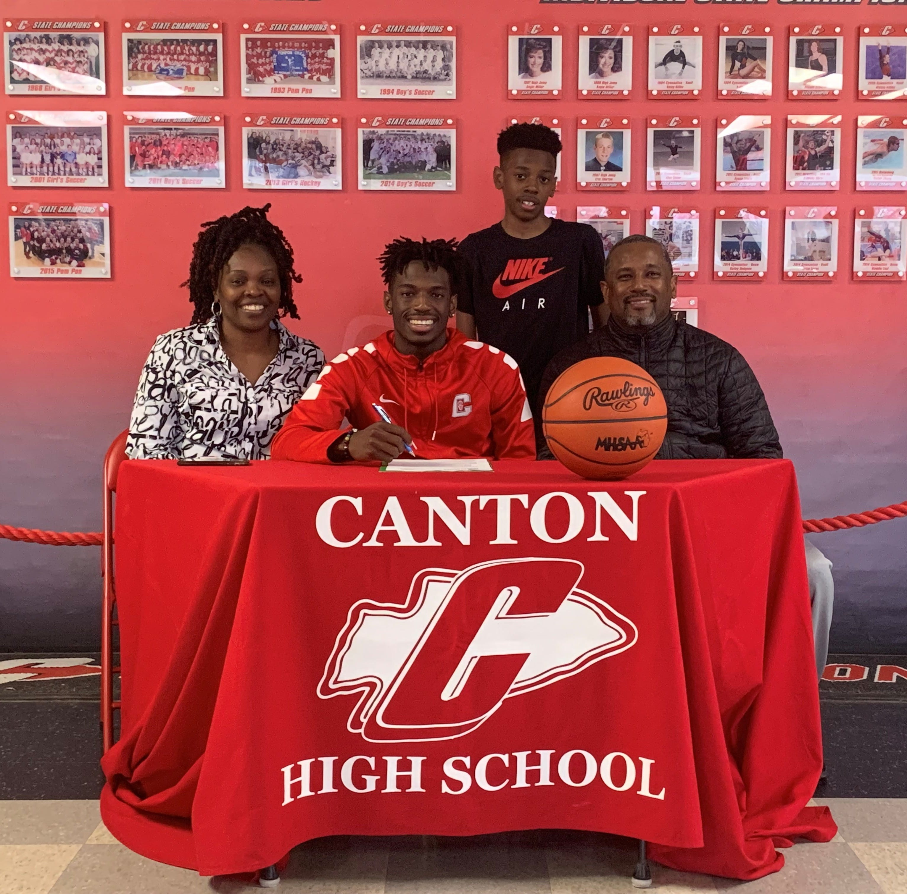 Canton basketball's Vinson Sigmon makes college decision, leaves legacy