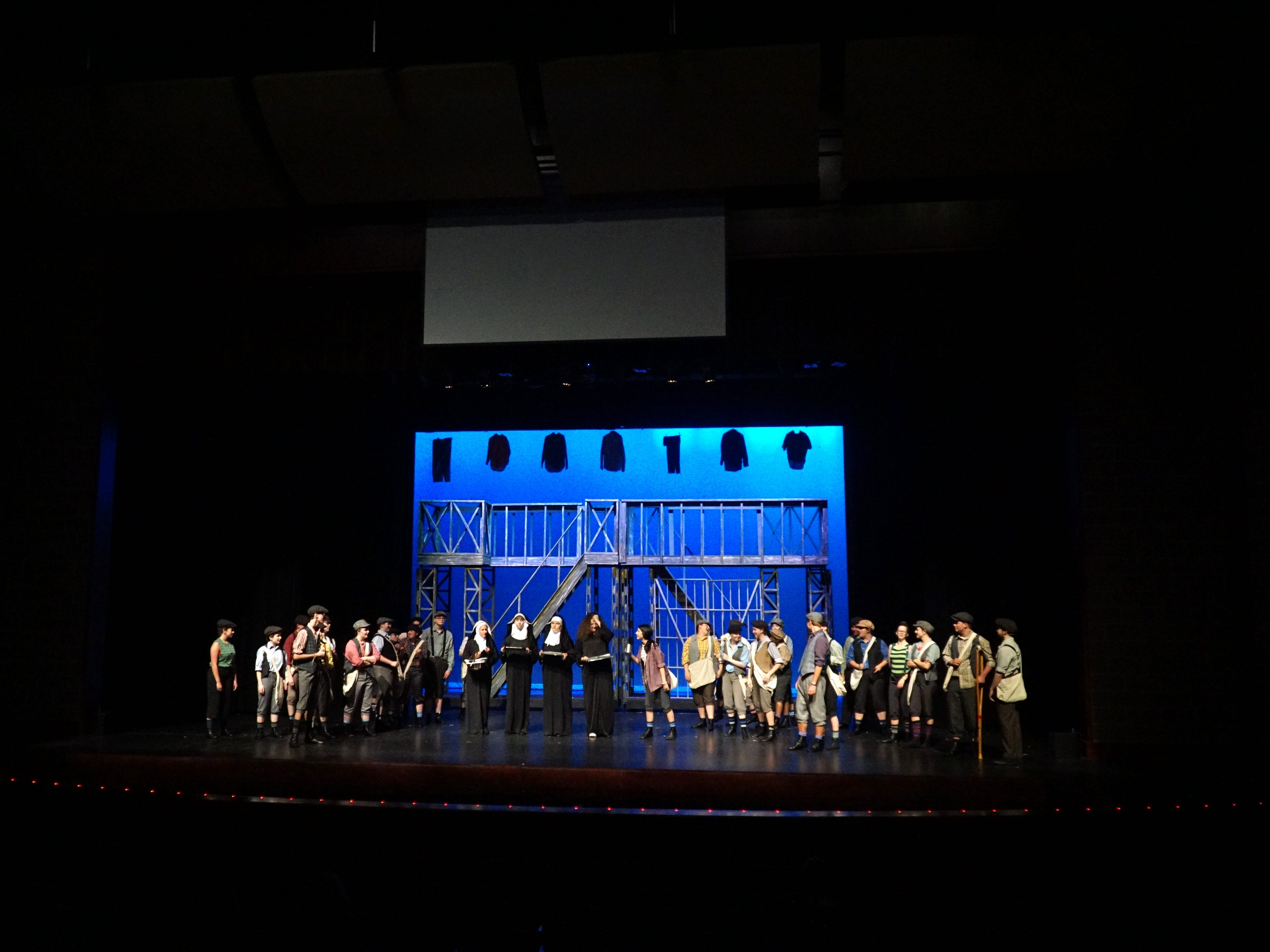 Newsies will be performed beginning April 25 at South Lyon East High.