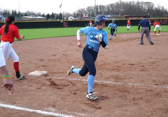 There were a lot of Stevenson players rounding third base in their lopsided victory over Churchill.