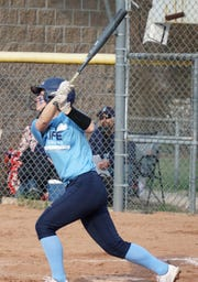 Livonia Stevenson's Autumn Reed had a big game with some big hits.