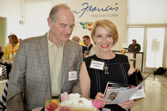 Abe Ostrovsky and Christine Hughes at the celebration.