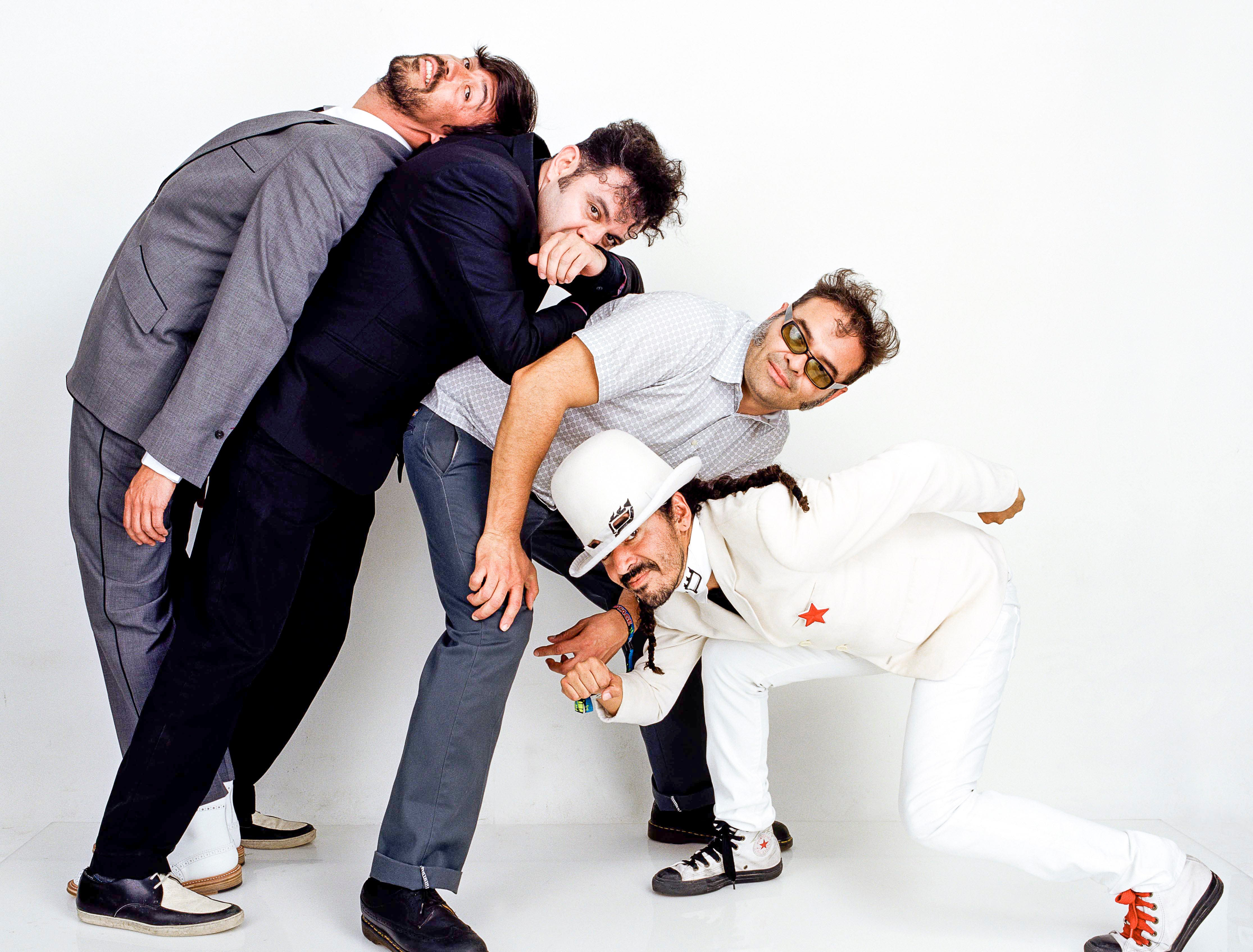 Cafe Tacvba, one of the first Mexican bands to play Coachella, have mad several visits to Andrew Haagen's photo tent.