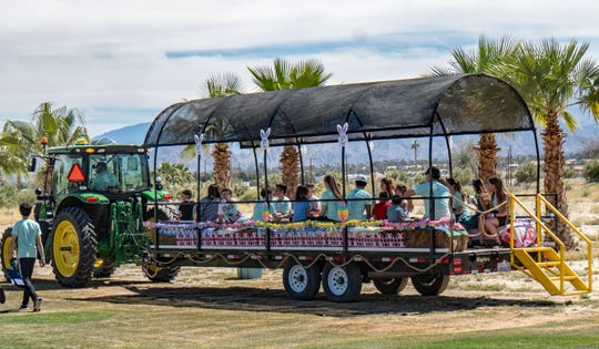 The hayride was a big hit with children and parents.