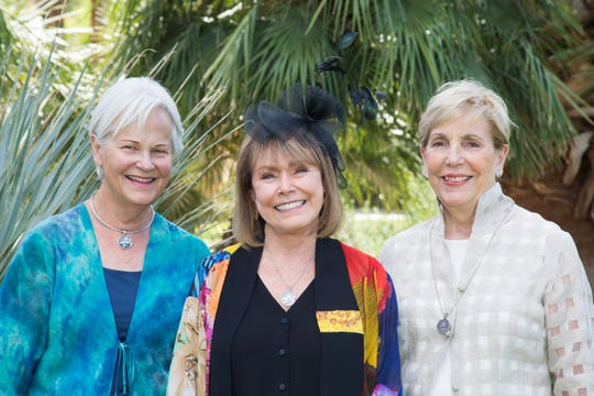 Three Pathfinders of the Year wear their distinctive pendants. From left: Sue Todd Yates, 2016; Deborah Garsh, 2019; and Marie Dempcy, 2017.