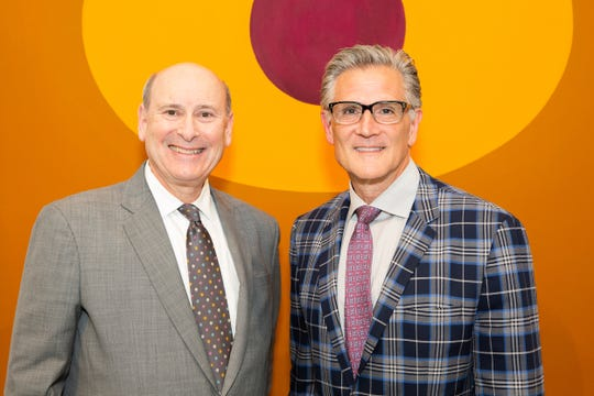 McCallum Theatre President CEO Mitch Gershenfeld and James Carona, co-owner of Heather James Fine Art.