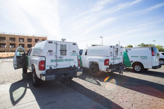 Guatemalan migrants who seek asylum in the U.S. are dropped off by Custom and Border Protection agents in Blythe, California on the morning of April 18, 2019. The migrants were than picked up by Riverside County employees and taken Seventh-day Adventist Church in order to help them reach their final destination inside the country.