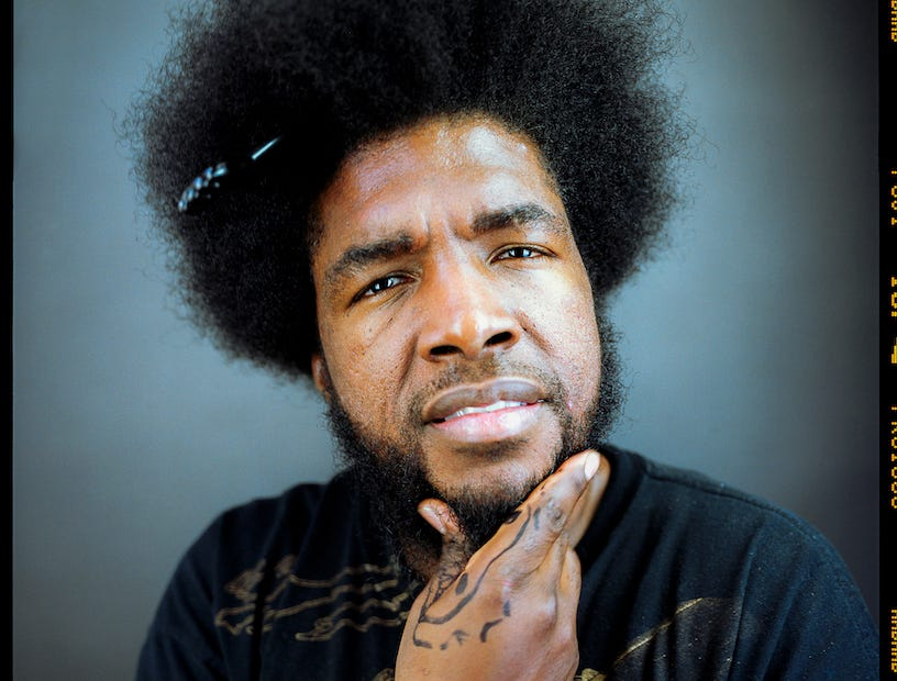 Questlove as photographed by Andrew Haagen in his portrait studio at the Coachella Valley Music and Arts Festival.
