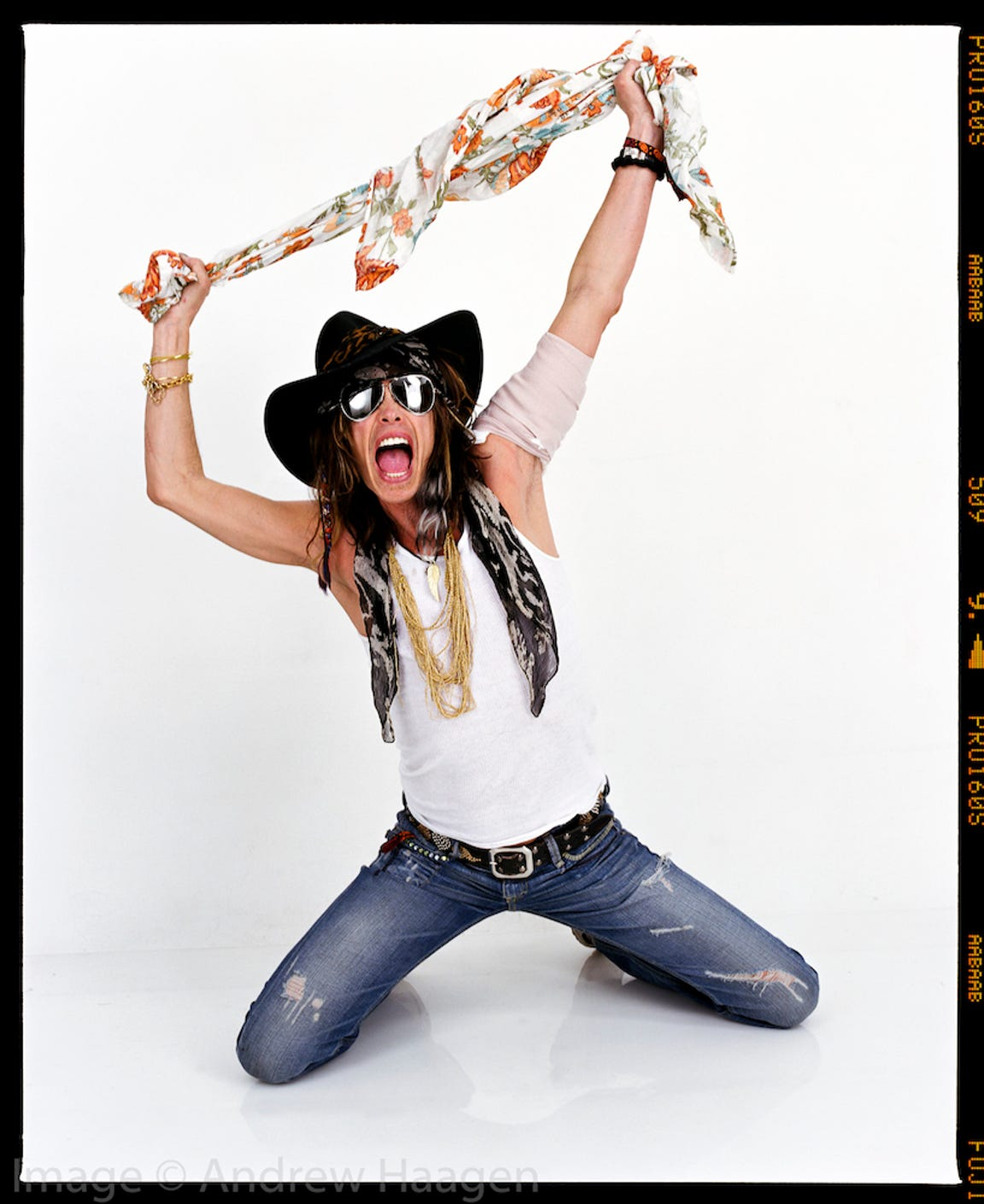 "Steven Tyler came into Andrew Haagen's portrait studio ""with a ton of energy."""