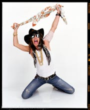Steven Tyler as photographed by Andrew Haagen in his portrait studio at the Coachella Valley Music and Arts Festival.