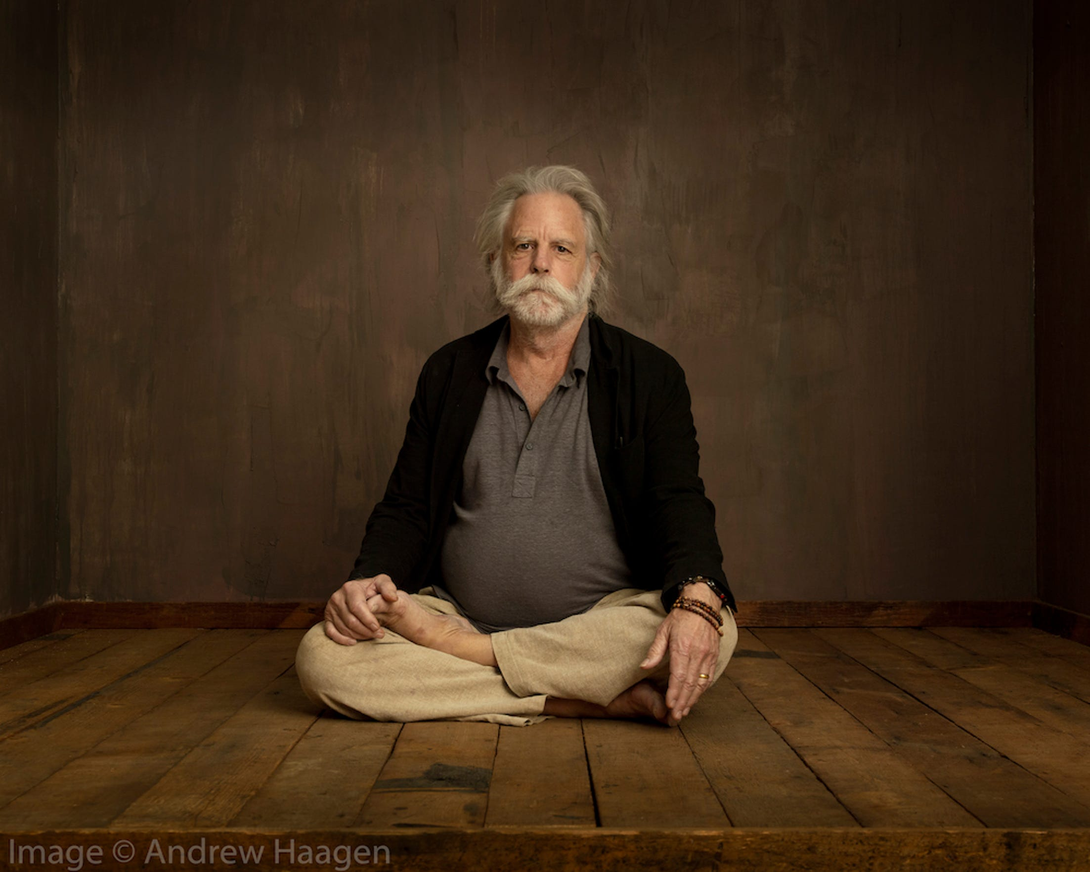 Bob Weir of the Grateful Dead said he had fun sitting for a Buddha-like photo and drinking beer with photographer Andrew Haagen.
