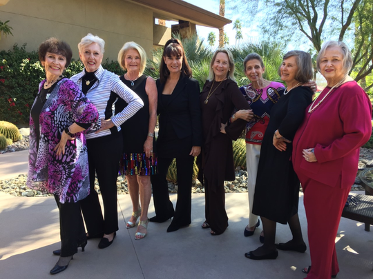 From left: Scholarship chair Joyce Johnson, former President Karen Gonzales, President Debbie Cox, Brenda Cooper, Allyson Keller, event chair Susan Meyer, Martha McCool and Cheryl Johnsen.