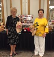 World of Women's annual teddy bear fashion show co-chairs Evie Kreisler and Beverly Sheldon.
