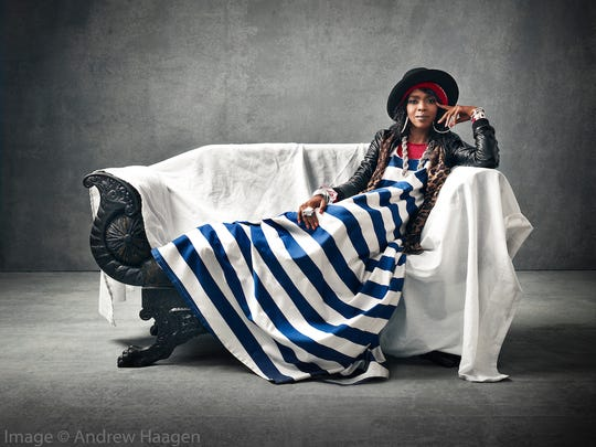 Lauryn Hill as photographed by Andrew Haagen in his portrait studio at the Coachella Valley Music and Arts Festival.