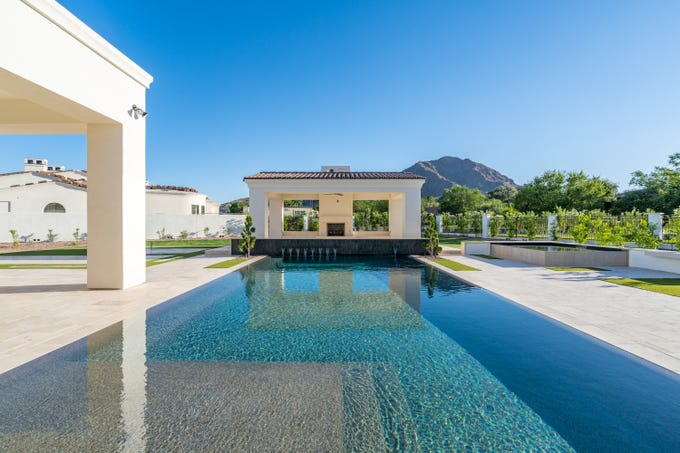 The Paradise Valley estate, sold by BJAN Family Enterprises, LLC, features a resort-like backyard with a gazebo.