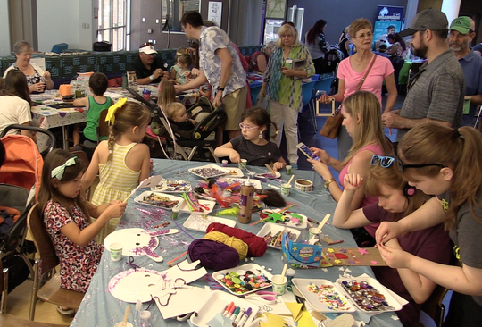 The Festival of Tales offers different types of interactive activities, including crafts for younger children.