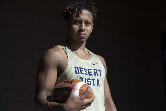 Desert Vista High School track athlete Tyson Grubbs who plays football and wrestles.