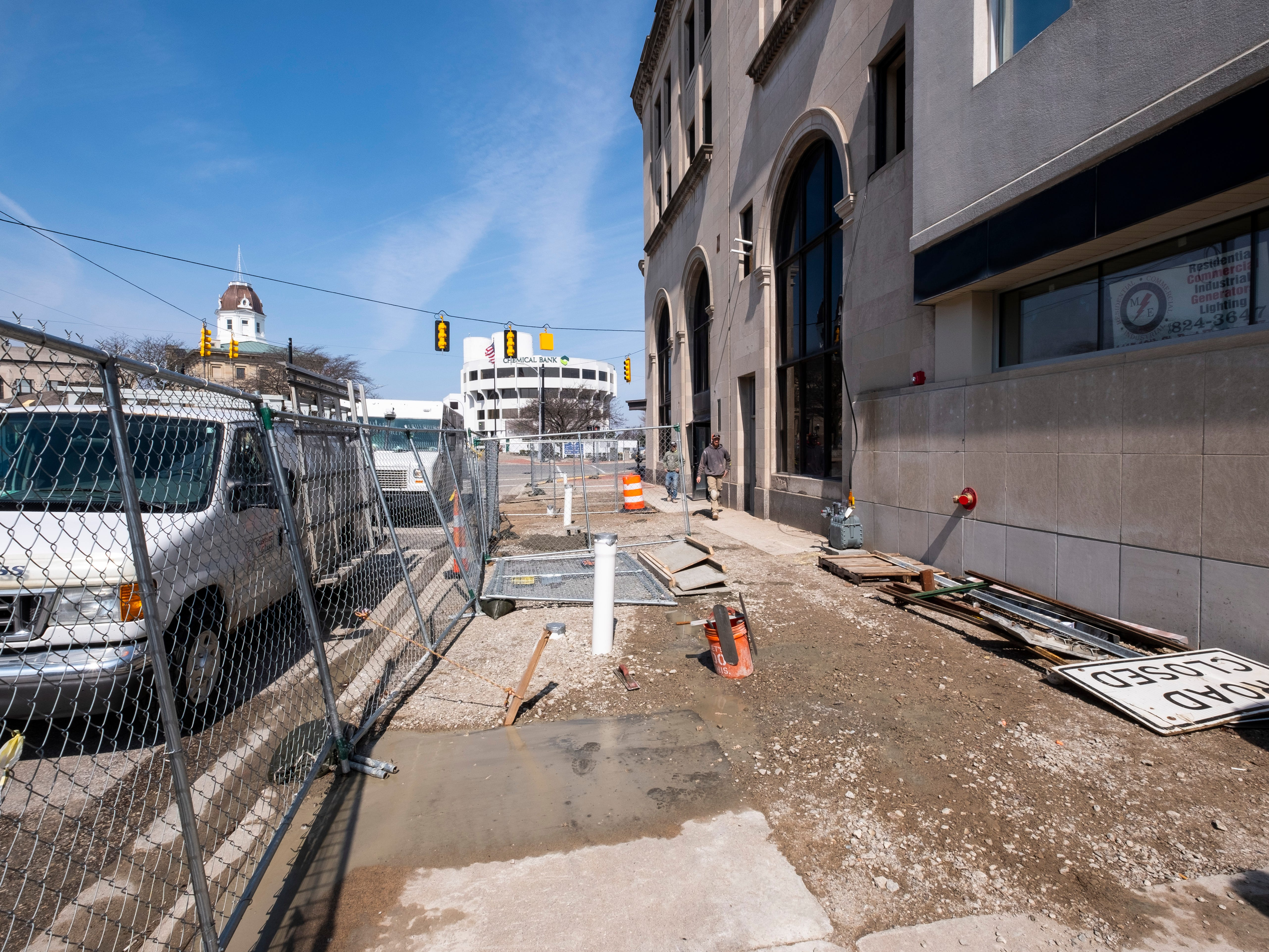 New sidewalks will be constructed outside CityFlats Hotel