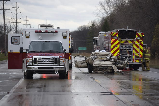 Rescue crews responded to a crash on Busha Highway shortly before 4 p.m. Thursday in Marysville.