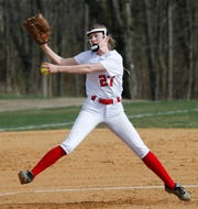 Ketcham's Skylar Brandemarte throws a pitch during an April 16 game against Fox Lane.