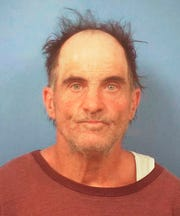 This undated Nye County Detention Center booking photo shows Richard Cleaves, 56, of Pahrump, Nev. Sheriff's officials say Cleaves surrendered to deputies Friday, April 12, 2019, on warrant charges of burglary, conspiracy and destruction of property in a March 30, 2019 break-in at a ranch once owned by dead Las Vegas casino heir Ted Binion. Investigators found holes dug on the property in an apparent attempt to find silver that Binion is believed to have buried before his mysterious death in 1998. (Nye County Sheriff's Office via AP)