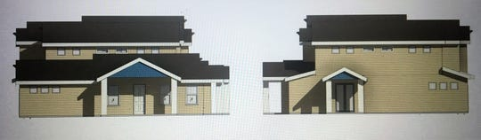 A schematic of the Hardie Lane Townhomes.