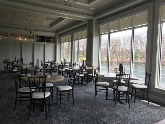 The renovated dining room of The Grill and Tap Room at Shadow Lake. The restaurant reopens on April 23, 2019, six months after a fire.