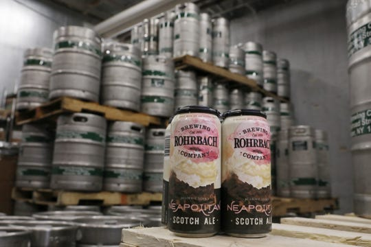 The new Neapolitan Scotch Ale at Rohrbach Beer Hall on Railroad Street in Rochester Thursday, April 18, 2019.