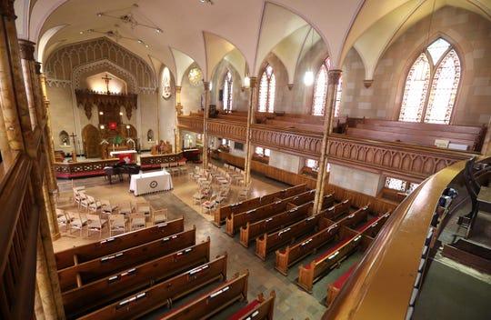 Inside at the Church of St. Luke & Simon Cyrene on Fitzhugh Street in downtown Rochester.