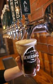 Enjoy a Scotch Ale at Rohrbach Beer Hall on Railroad Street in Rochester Thursday, April 18, 2019.