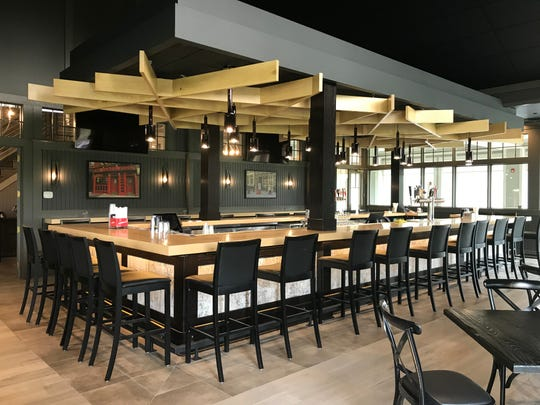 The renovated bar area at The Grill and Tap Room at Shadow Lake. The restaurant reopens on April 23, 2019, six months after a fire.