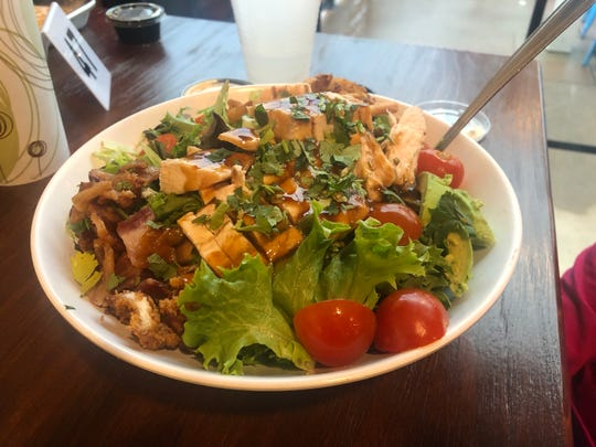 "The house salad at the ""new"" Chicken Shack on Churn Creek Road in east Redding."