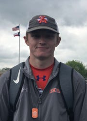 San Angelo Central High School's Brandon Sobotka finished third in the boys pole vault at the Districts 3&4-6A Area Track and Field Meet Thursday, April 18, 2019, in Weatherford.