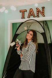 Amanda Arnold, owner and founder of The Shady Sun Tanning Co. Courtesy of Leah Adkins Photography.