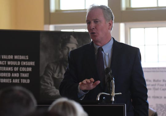 U.S. Senator Chris Van Hollen announced the World War I Valor Medals Review Act, new bipartisan legislation that will ensure that minority Veterans who served during WWI get the recognition they deserve on Thursday, April 18, 2019.