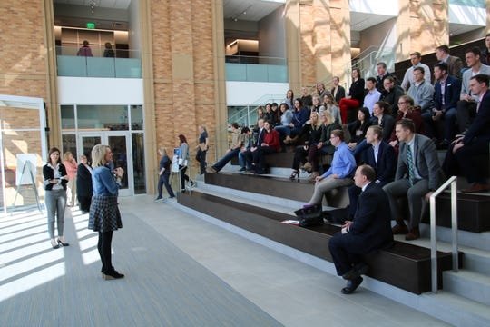 A Sioux Falls Young Professionals Network Community Connections Tour at Sanford Imagenetics held in 2018.