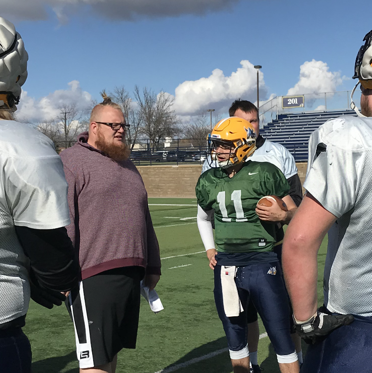 Augustana University football team stressing intensity in spring practice