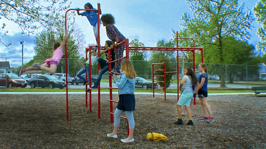 "An image from the four-part documentary series ""Our Kids: Narrowing the Opportunity Gap"" based on the book by Harvard professor, Dr. Robert Putnam."