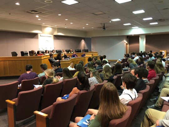 At the 2019 Model General Assembly, 175 students from the three local divisions spent two days crafting and debating proposed legislation.