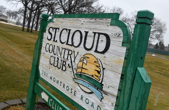The entrance to the St. Cloud Country Club is pictured Wednesday, April 17.