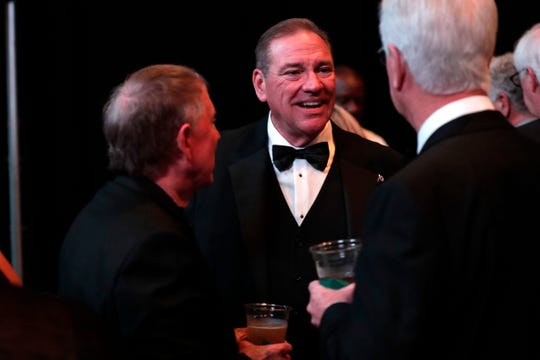 Congressman Neal Dunn mingles with friends at the TMH 36th annual Golden Gala Thursday, April 18, 2019.