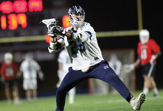 Maclay senior goalie Jackson Hugill takes a last-minute shot for a goal during Wednesday's district semifinals. Hugill recorded his first career shutout in a 19-0 win over Leon.