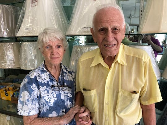 Donna and Albert LaBonte, who have been Vero Beach business owners for decades, will retire and close their electrical repair and fixture shop, Candlelite, on Old DIxie on April 30, 2019.