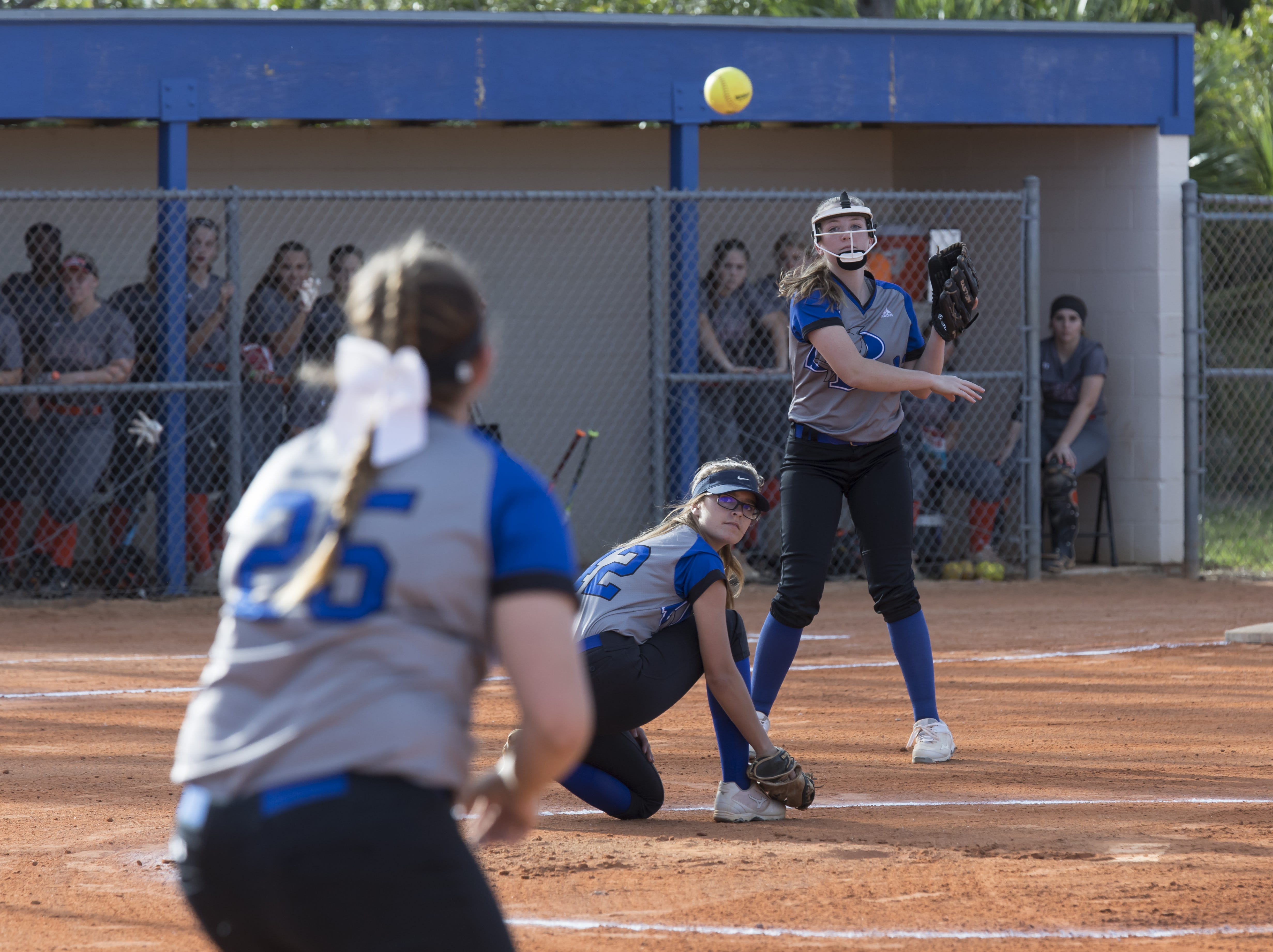 Lincoln Park Academy plays against Sebastian River, and wins 1-0, during the high school softball game Wednesday, April 17, 2019, in Sebastian.