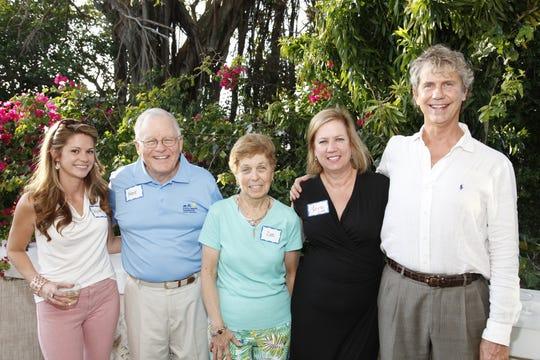 Cystic Fibrosis Foundation Development Director Skylar Gorman, left, with volunteers Frank and Dee Spera, Executive Director Lora Hazelwood, and Illustrated Properties Realtor Stephen Dutcher.