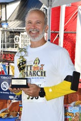 Robert Kraczek of Hobe Sound placed first in the Mutt March 5K run in Stuart.