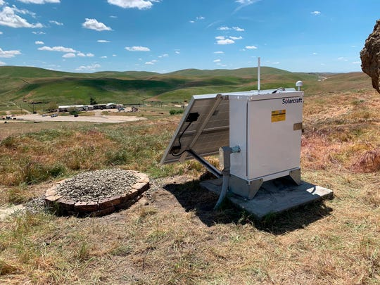 This photo shows an earthquake monitoring station near Bakersfield. A report released Thursday said there are 10 times more earthquakes than seismologists had thought. But most are so tiny that no one feels them.