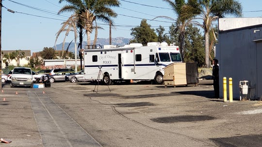 This was the scene Wednesday afternoon in an alley between Cuesta Del Mar and Hueneme Road in Oxnard where a 37-year-old man was fatally shot.