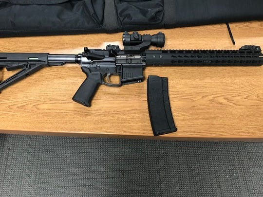 An unregistered and loaded AR-15 assault rifle was seized on Saturday from a Thousand Oaks residence during a probation search.